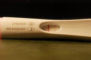 Línea muy débil en el test de embarazo
